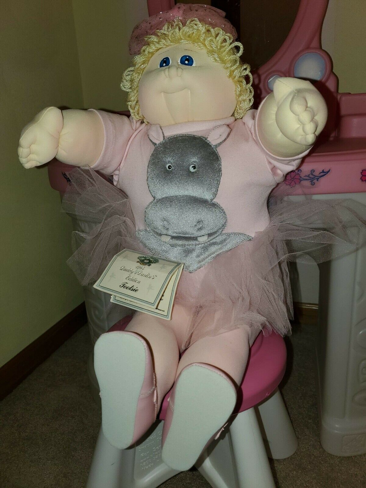 Daddy's Darlin Collection Signed Tootsie soft sculpture Cabbage Patch cpk doll