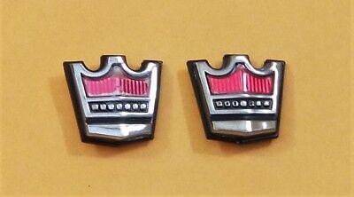 LTD Crown Victoria Emblem Pair 1983-87 Ford OEM Center Pillar Door Trim Emblems