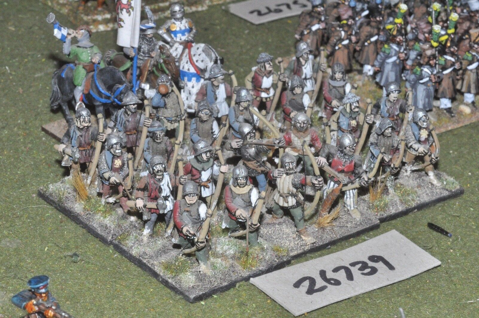 25mm medieval   english - longbowmen 27 figures - inf (26739)