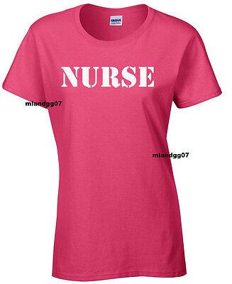Adult Sizes Womens T-Shirt Nurse Medical Service Women Shirt
