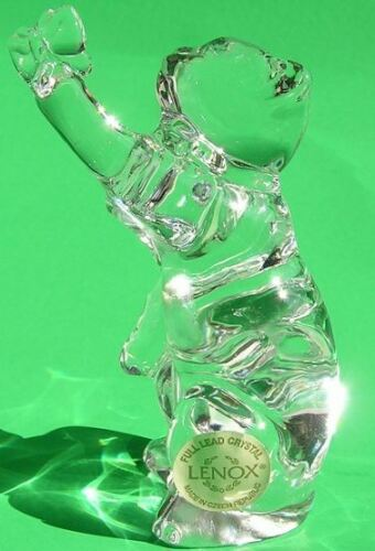 LENOX Crystal GENTLE FRIENDS CAT with BUTTERFLY sculpture NEW in BOX