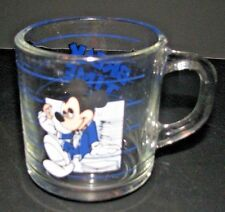 MICKEY MOUSE Anchor Hocking DISNEY Break Time Glass Coffee Mug Business Office