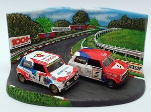 Corgi 1/36 05508 - 1999 Mini 7 y Miglia C/envíos ganadores Marcas + escotilla Diorama