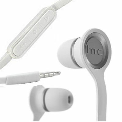 HTC OEM RCE190 Original One S/X/V White 3.5mm Earphones Headphones Headset w Mic