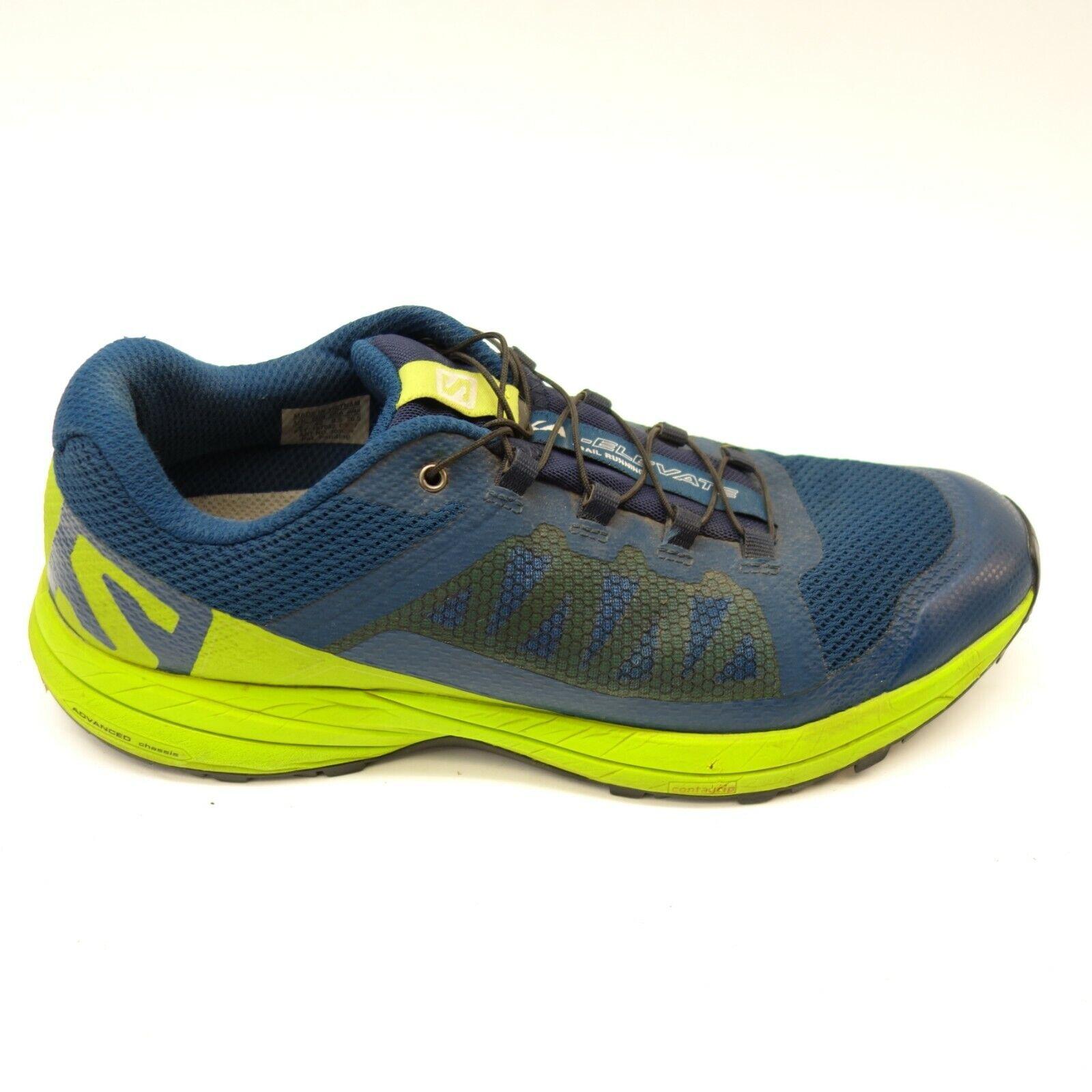 Salomon Mens XA Elevate Trail Running bluee Athletic Hiking Mountain shoes Sz 8.5