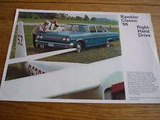 RAMBLER CLASSIC 1966 CAR BROCHURE  jm