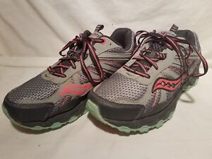 00ec18561b Details about Womens Saucony Eclipse TR2 Neon Gray Pink Green Lace Up  Running Tennis Shoes 9