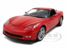 2007 CHEVROLET CORVETTE C6 Z06 RED 1/24 DIECAST CAR MODEL BY WELLY 22504