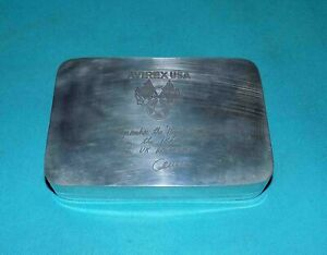 boite-box-vintage-AVIREX-USA-en-metal-argente-Remember-the-mighty-eighth