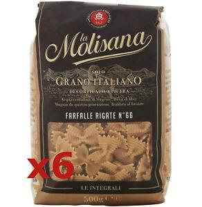 6X-LA-MOLISANA-FARFALLE-RIGATE-GRANO-DURO-INTEGRALE-DECORTICATO-A-PIETRA-3-0kg