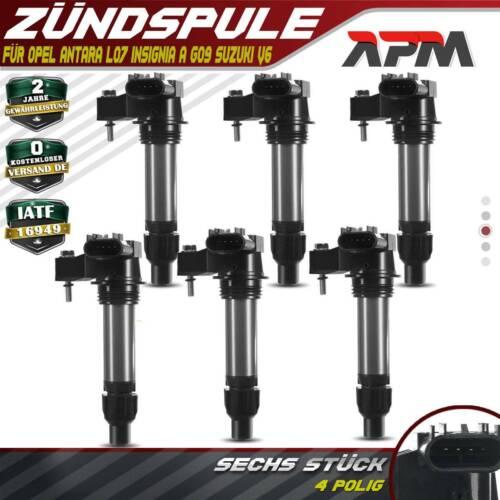 6x Zündspule Zündmodul für Opel Antara L07 Insignia A G09 Suzuki V6 2.8 3.0 3.2L