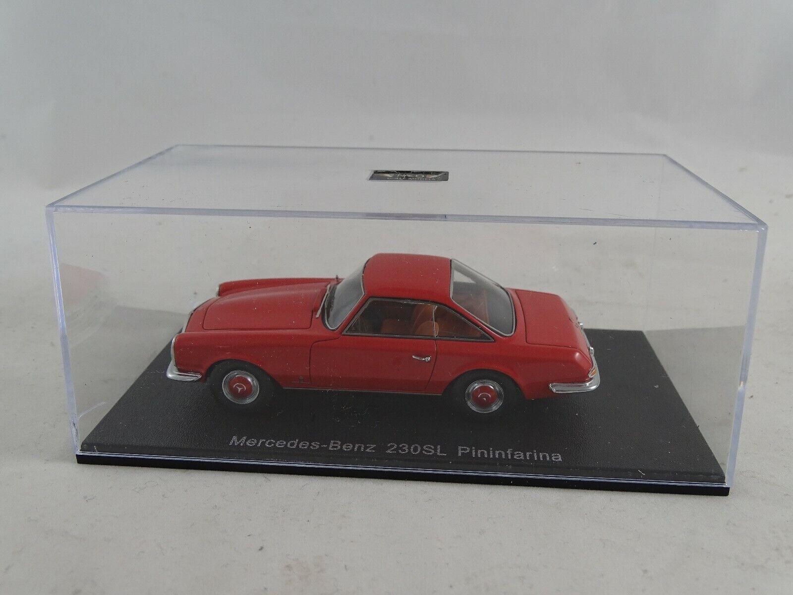 1 43 Neo Modells Mercedes Benz 230 SL Pininfarina rot Neu OVP
