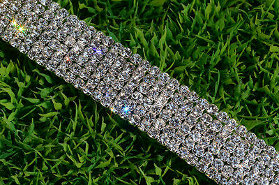 3-row/4-row/5-row/6-row crystal rhinestone trims close chain silver ss16 x1 yard