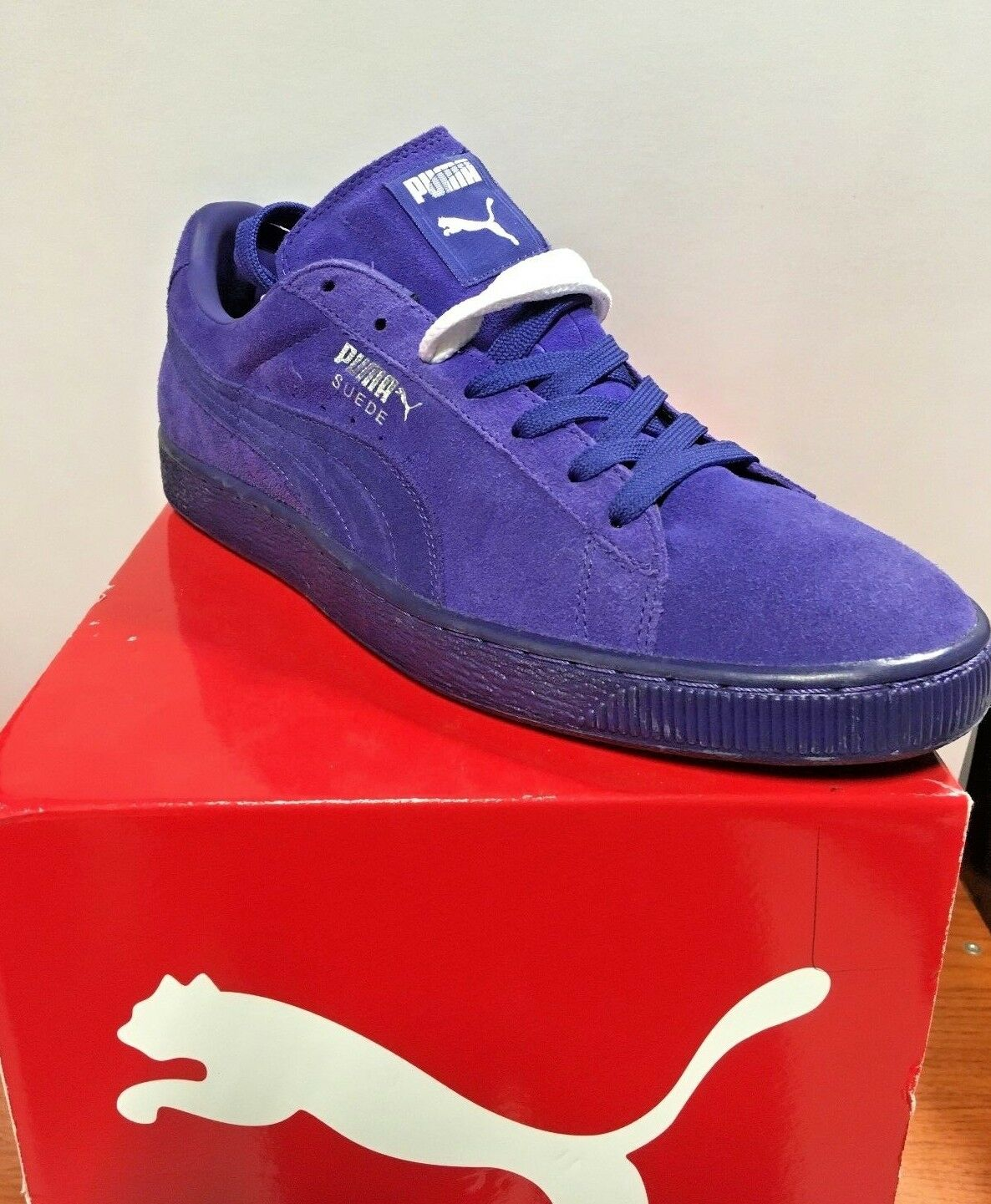 PUMA SUEDE CLASSIC (356568 13) COLOR SPECTRUM BLUE (PURPLE) SIZES: 11.5 TO 13