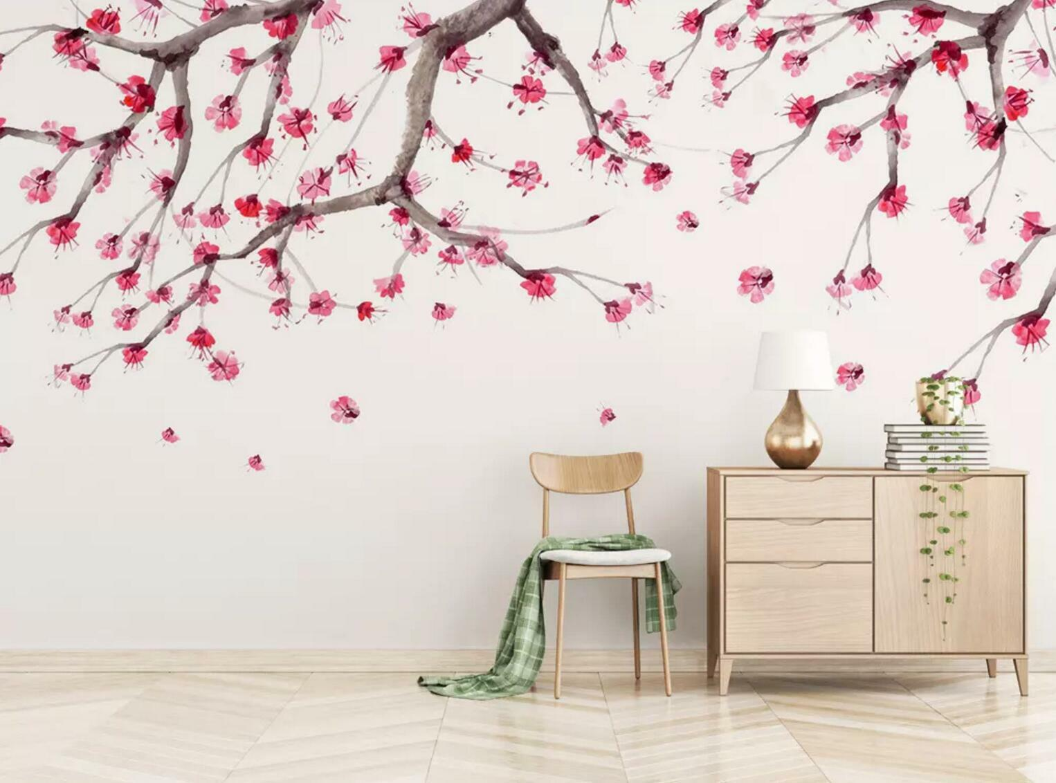 3D Cherry Flower Tree 4 Wall Paper Exclusive MXY Wallpaper Mural Decal Indoor AJ