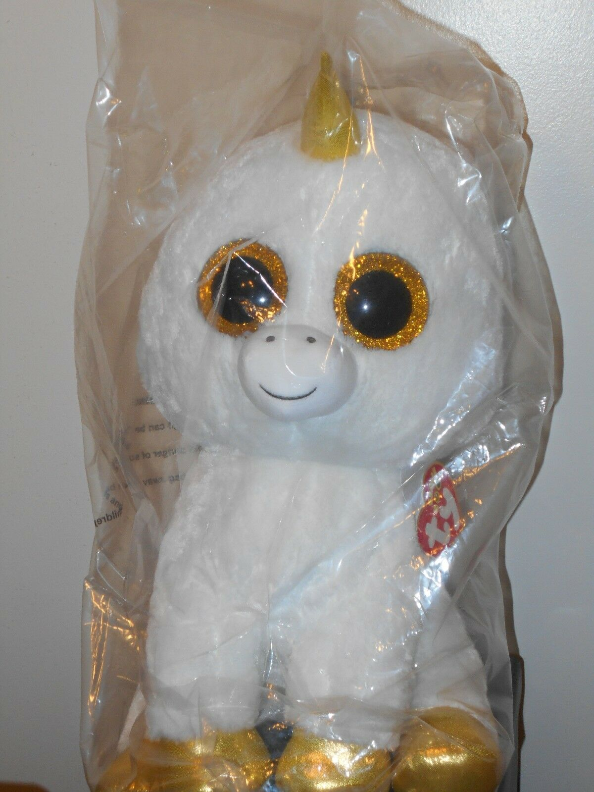 Ty 16-17  JUMBO   LARGE Beanie Boos PEGASUS the Unicorn (Claire's EXCLUSIVE) NEW