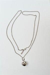 Halskette-Silber-Jette-von-Joop-Kugelform-mit-kleinen-Brillanten-besetzt-925-er