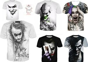 New-JOKER-SKETCH-3D-T-shirt-Why-So-Serious-Print-Graphic-Tee-Style-Size-S-7XL