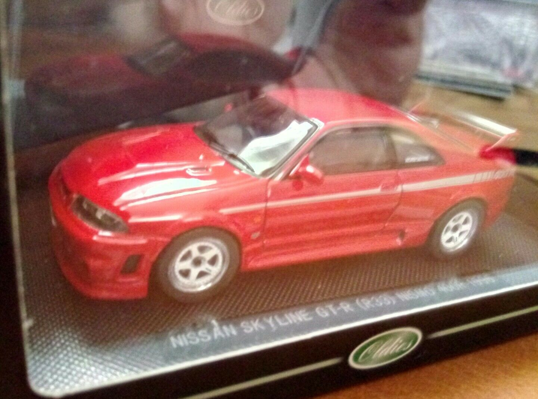 Rare Ebbro Nissan Skyline GT-R R33 Nismo 400R 1 43 scale MIB 1996 Red