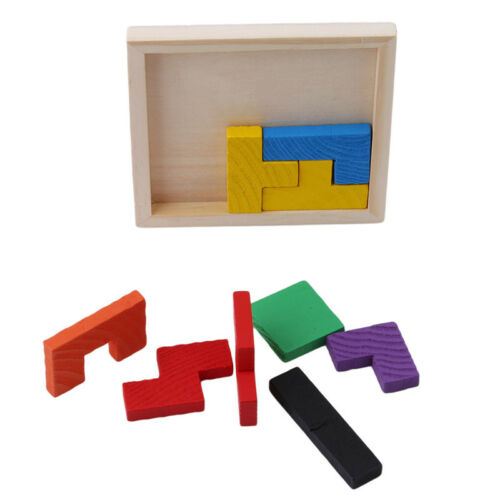 Kids Baby Wood Geometry Building Block Puzzle Early Learning Educational Toy New