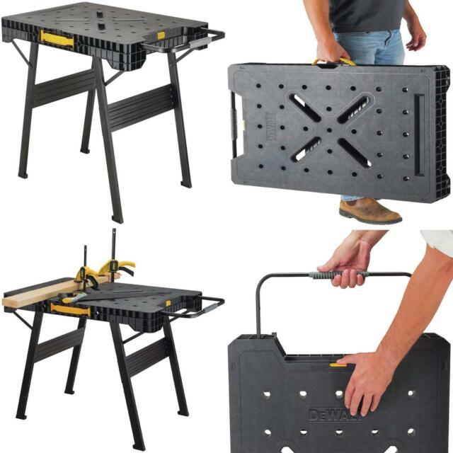 Portable Work Bench Folds Flat Large Garage Job Site Table ...