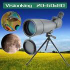 Visionking 20-60x80 Waterproof Spotting Scope Telescope High Power Monocular New
