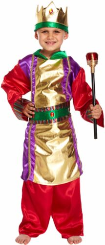 BOYS KING HISTORIC MEDIEVAL FANCY DRESS CHRISTMAS NATIVITY SCHOOL COSTUME 4-12