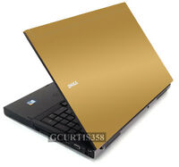 Gold Vinyl Lid Skin Cover Decal Fits Dell Precision M6400 M6500 Laptop