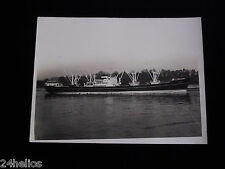 """Photo Ancienne Bateau """"GERARD L.D."""" (Louis Dreyfus) 24x18cm - Dunkerque Snapshot"""