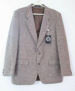 Harbarry-de-Inglaterra-para-Hombres-de-Lana-Pura-Tweed-Pais-Blazer-Chaqueta-Talla-40-regular