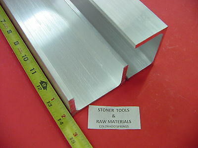 """3 Pieces 3/"""" x 1-1//2/"""" x 3//16/"""" Wall 6061 T6 ALUMINUM CHANNEL 12/"""" long Mill Stock"""