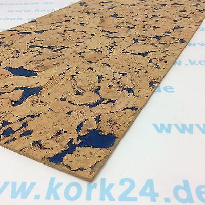 Kork Rückwand Mindanao blau 600x600x4mm für Terrarium (Reptilien) oder Aquarium