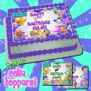 Bubble Guppies edible Cake toppers image transfer sugar ...