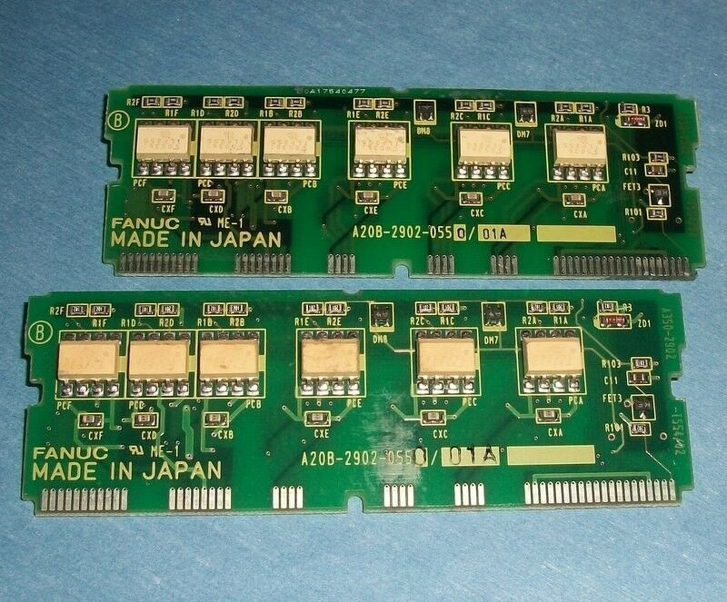 FANUC DAUGHTER BOARD A20B-2902-0550 01A LOT OF 2 PZF