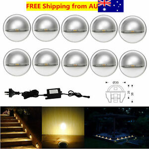 10Pcs-Warm-White-12V-35mm-0-4W-Half-Moon-Outdoor-Yard-LED-Deck-Step-Stair-Lights