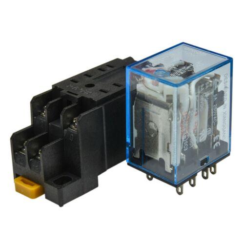 Omron MY2N-J 240V A//C Coil Lot of 2 5A Cube Relay with Socket Base PYF08A
