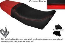 Negro Y Rojo Custom Fits Yamaha Srx 250 Doble Cuero Real cubierta de asiento solamente