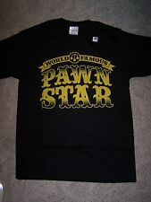 PAWN STARS World Famous T-Shirt Black medium RICK BIG HOSS Chumlee Old Man