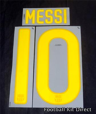Barcelona Youth/Child Football Shirt Name/number Set Messi 10 2011-12