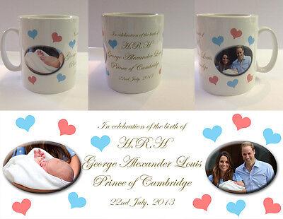 ROYAL BABY MUG CUP WILLIAM KATE DI PRINCE Louis Arthur Charles Cambridge #2