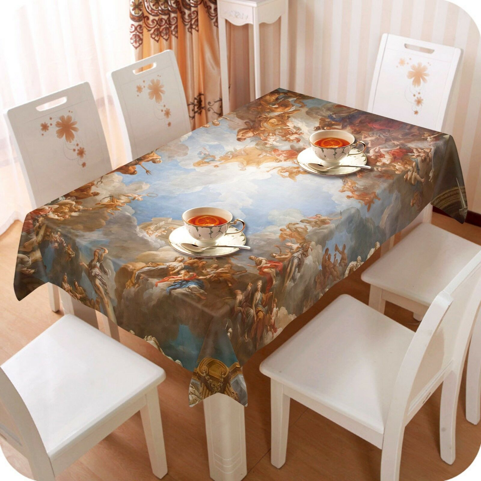 3D Painted Trees 08 Tablecloth Table Cover Cloth Birthday Party Event AJ Jenny