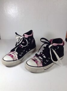 Converse Chuck Taylor All Star High Top Black Pink White Size Mens 5 ... 5d563ac3b