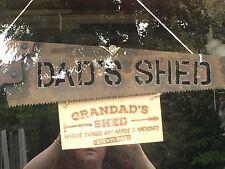 Personalised Vintage Saw Metal Retro Industrial Dad Granddad Shed Present Sign