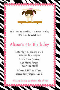 Gymnastic Party Invites for best invitations sample