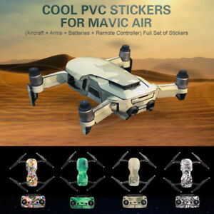 Waterproof PVC 3D Stickers Decal Skin Cover Protector For DJI Mavic Air Drone RC