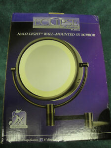 New Eclipse Series By Jerdon Mirror Mural 5x Halo Light Ebay