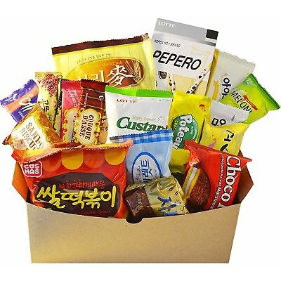 Korean Classic Popular Variety Snack Box Candy Cookies 18 Packs Single Box