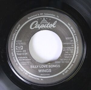 Rock-45-Wings-Silly-Love-Songs-Cook-Of-The-House-On-Capital