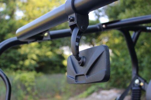 "Side View Mirror 8/"" X 3/"" CONVEX BALL PIVOT Polaris Ranger Crew UTV Rear View"