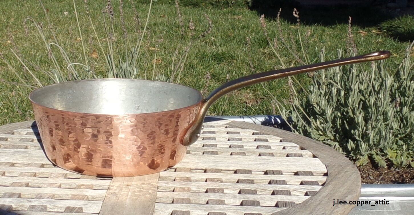 Texturé cuivre 9-3 4  Windsor Pan avec étain Doubleure, 2.3 mm, Made in France
